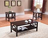 Product review for 3 Pc. Kings Brand Cherry Finish Wood Coffee Table & 2 End Tables Occasional Set