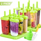 BAKHUK Ice Popsicle Mold, Plastic Ice Pop Mold Maker with Silicone Funnel and Cleaning Brush - Green