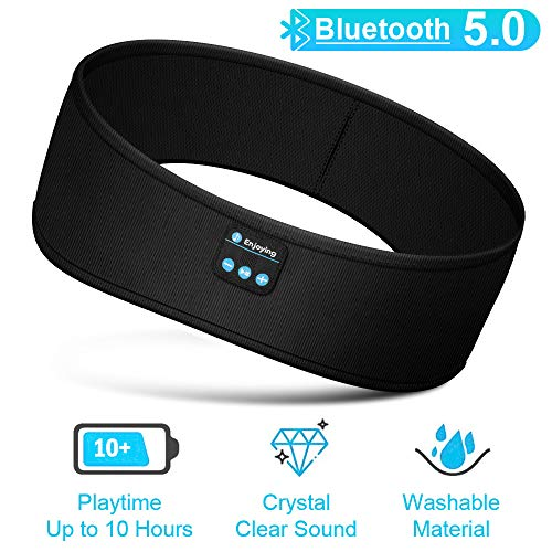 Sleep Headphones, Bluetooth Sleeping Headphones Bluetooth Headband with Detachable Stereo Thin Speaker for Side Sleepers, Sleeping, Sports, Meditation & Relax, Ultra Soft, Long Time Play, Unisex