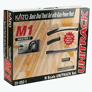 Kato USA Model Train Products M1 UNITRACK Basic Oval with Kato Power Pack 51jiwOi8X0L