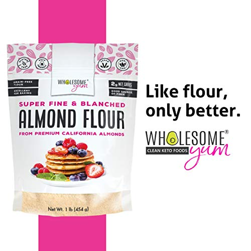 Wholesome Yum Premium Super Fine Blanched Almond Flour (16 oz / 1 lb) - Gluten Free, Non GMO, Keto Friendly Flour Substitute For Low Carb Baking 6
