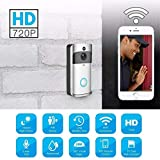 Kindsells Wireless Visual Doorbell with 720P HD Security Camera Real Time 166 ° Wide-Angle WiFi Doorbell