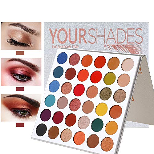 Beauty Glazed Pigmened Make up Palette Sweatproof YOURSHADES Eyeshadow Red Nude Warm Eye Shadows for Proffesional And Home Makeup 9 Shimer+27 Matte Shades 36 Colors Make up Palette Glitters Sunset