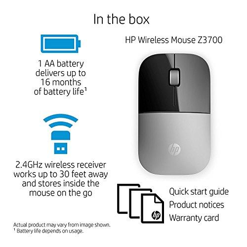 51jlNyDl8lL HP Z3700 Wi-fi Mouse Silver