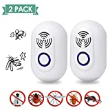 SUNNEST Ultrasonic Pest Repel 2 Pack, Eco-Friendly Electronic Plug in Device Ultrasonic Repellent for Mice Rats Spiders Rodents Mosquitoes Insects Safe for Human and Pets