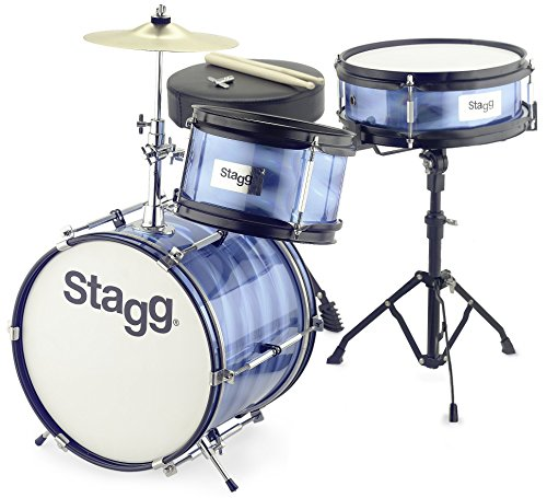Stagg TIM JR 3/12 BL 3 Piece Junior Drum Set with Hardware - Blue