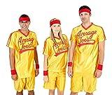 Dodgeball Average Joe's Adult Yellow Jersey Costume Set (Adult Small)