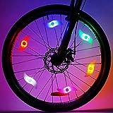 LeBoLike Bike Spoke Lights Cycling Bike Wheel Lights for Bicycle Decoration 6 Pack - Batteries Included