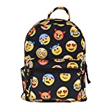 Cute 10 inch mini pack bag backpack for grils children and adult (emoji)