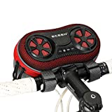 Bicycle Mount Speaker Case with Hands-Free Speakerphone Calls & Rechargeable Power Bank Charge for Cell Phones and Powerful Enhanced Bass Splash Proof Shockproof Dustproof for Riding Outdoor (Red)