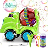 Bubble Machine, Automatic Bubble Maker Blower with A Bottle of Bubble Solution Over 800 Bubbles per Minute Bubble Machines Toy for Kids Toddlers Bath Parties Wedding(Car)