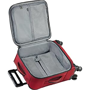 Spacious man compartment and compartmentalized lid section