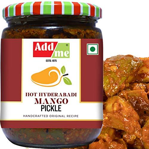 51jziur0MML - Add me Hot Mango Pickle in Garlic Masala 1KG, Aam ka achar in lehsun adrak Glass jar 2 x 500gm