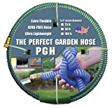 Tuff-Guard The Perfect Garden Hose, Kink Proof Garden Hose Assembly, Green, 5/8' Male x Female GHT Connection, 5/8' ID, 50 Foot Length