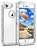 """Coolden Clear Case for iPhone 8/7 (NOT Plus), Hybrid Protective Dual Layer Shockproof Case with Hard PC Bumper & Soft TPU Back for 4.7"""" iPhone 6/6S/7/8–Transparent"""