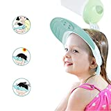 Kids Baby Shower Cap by Yarachel - Adjustable Leak Proof Silicone Bath Wash Hair Shield Hat Soft Comfortable Baby Shampoo Cap - Baby Mate (Sapphire Blue)