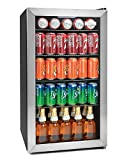 Igloo IBC35SS 135-Can Stainless Steel Glass Door Beverage Center Refrigerator and Cooler, 3.5 Cu.Ft.
