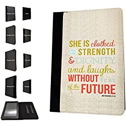 002920 - Proverbs Quote Strength God Jesus Christians Design Amazon Kindle Paperwhite 6'' 2014/2016 Flip Case Purse pouch Stand Cover