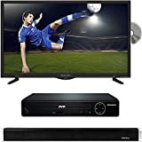 PROSCAN PLDV321300 32-Inch 720p 60Hz LED TV-DVD Combo with HDMI 1080p High Definition DVD Player and Vivitar 24-Inch Wall Mountable Wireless Bluetooth Soundbar