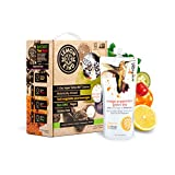 Lemonkind SUPER DETOX ME Metabolism Booster 3 Day Cleanse, Fruits & Veggies plus SUPERFOODS – Chlorella, Turmeric, Chia, Green Tea and Acerola - 24 Juices (Pack of 3)