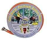 Dramm 17032 ColorStorm Premium Rubber Garden Hose, 1/2' X25', Orange