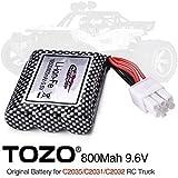 TOZO 15-DJ02 Battery 9.6V 800mAh for C2035 C2031 C2032 RC CAR Part ( 1pcs )