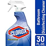 Clorox Disinfecting Bathroom Cleaner, Bleach Free - 30 Ounce Spray Bottle