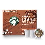 Starbucks Breakfast Blend Medium Roast Single Cup Coffee for Keurig Brewers, 32 Count