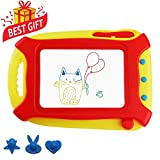 pidien Magna Doodle for Toddlers Magnetic Drawing Board Travel Size Kids Toys Colorful Drawing Tablet Erasable Sketching Pad with 3 Stampers