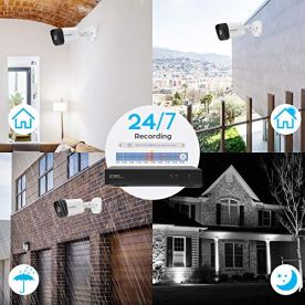 xmartO-PoE-Home-Security-Camera-System-with-2-way-Audio-and-Easy-Remote-Access-H265-ES5084-5MP-PoE-Security-Camera-8CH-NVR-4-cameras