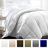 Beckham Hotel Collection 1600 Series - Lightweight - Luxury Goose Down Alternative Comforter - Hotel Quality Comforter and Hypoallergenic - King/Cali King - Pure White