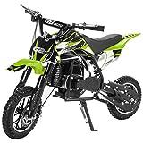 XtremepowerUS 49CC 2-Stroke Gas Power Mini Pocket Dirt Bike Dirt Off Road Motorcycle Ride-on (Green)
