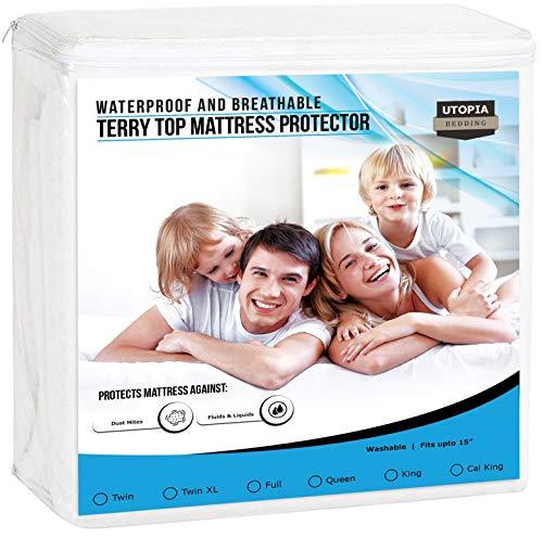 Utopia Bedding Premium Waterproof Mattress Protector