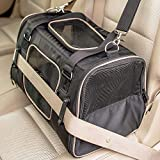 Crash Tested Gen7 Commuter Dog, Cat, Pet Car Seat + Carrier (Black)