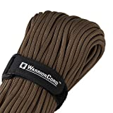 Titan WarriorCord | Dark Earth | 103 Continuous FEET | Exceeds Authentic MIL-C-5040, Type III 550 Paracord Standards. 7 Strand, 5/32' (4mm) Diameter, Military Parachute Cord.
