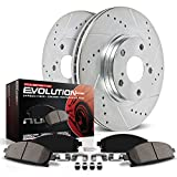 Power Stop K2963 Front Brake Kit with Drilled/Slotted Brake Rotors and Z23 Evolution Ceramic Brake Pads
