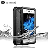Redpepper Waterproof Case for iPhone 6 Plus/6s Plus, IP68 Certified Drop Resistant Full Sealed Underwater Protective Cover, Shockproof, Snowproof and Dirtproof for Outdoor Sports (Black)