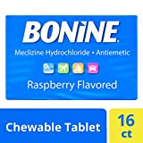 Bonine Motion Sickness Relief Chewable Tablets, Raspberry 16 ct.