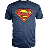 Superman Logo Navy Heather T-shirt Officially Licensed (XL)