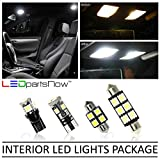 LEDpartsNow Interior LED Lights Replacement for 2014-2018 Mazda 3 Sedan or Hatchback Accessories Package Kit (9 Bulbs), WHITE