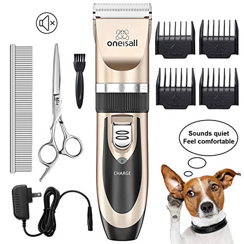 ONEISALL Dog Shaver Clippers Low Noise Rechargeable Cordless Electric Quiet Hair...