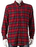 Croft & Barrow Mens Classic Fit Flannel Shirt Scotch Red Plaid Tartan (XLT (X-Large Tall))