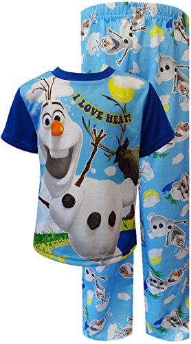 Disney Boys Frozen Olaf I Love The Heat Toddler Pajama Blue