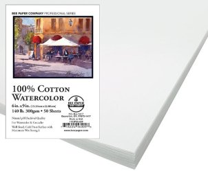 Bee Paper 100% Rag 140# Cold Press Watercolor Paper Pack
