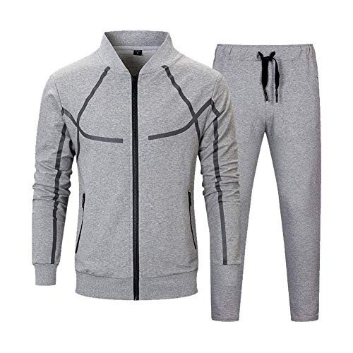 Men's Tracksuit Set 2 Piece Athletic Sports Casual Full Zip Active wear Sweatsuit 1 🛒 Fashion Online Shop gifts for her gifts for him womens full figure