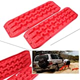 Newsmarts Emergency Tires Traction Mats Tire Grip Snow Ice Sand Mud Recovery Tracks Boards for Vehicle Extraction