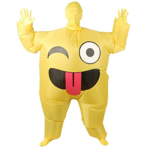 Blow up Cosplay Clothing Funny Smile Cry Face Full Body
