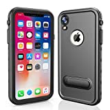 RedPepper iPhone XR 6.1 Waterproof Case, Underwater Full Sealed Cover Shockproof Dirtproof Snowproof IP68 Certified Waterproof Case with Built-in Screen Protector for iPhone Xr-(6.1 inch)