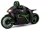 Velocity Toys Speed Lightning Remote Control RC Motorcycle Car 2.4 GHz Control System Rechargeable RTR w/ Bright LED Headlights (Colors May Vary)