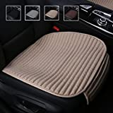 Suninbox Car Seat Covers,Car Seat Pads Cushions for Automobiles, Buckwheat Hulls Universal Bottom Seat Cover,Driver Car Seat Protector(Beige Front Seats Only)